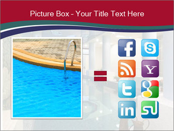Pool Inside Mansion PowerPoint Template - Slide 21