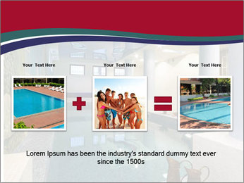 Pool Inside Mansion PowerPoint Templates - Slide 22