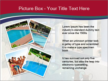 Pool Inside Mansion PowerPoint Template - Slide 23