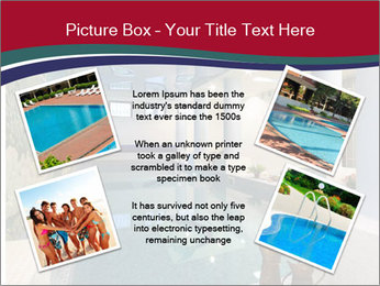 Pool Inside Mansion PowerPoint Templates - Slide 24