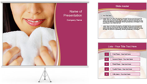 Woman With White Towel PowerPoint Template