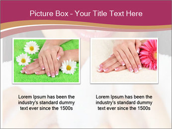 Woman With White Towel PowerPoint Templates - Slide 18