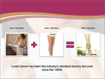 Woman With White Towel PowerPoint Templates - Slide 22