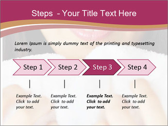 Woman With White Towel PowerPoint Template - Slide 4