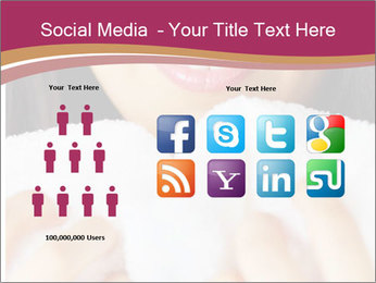 Woman With White Towel PowerPoint Templates - Slide 5