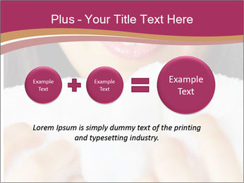 Woman With White Towel PowerPoint Template - Slide 75