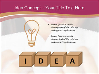 Woman With White Towel PowerPoint Templates - Slide 80