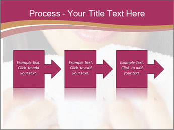 Woman With White Towel PowerPoint Templates - Slide 88