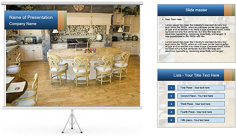 Huge Kitchen PowerPoint Template