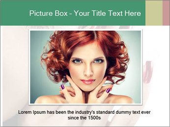 Red manicure PowerPoint Templates - Slide 16