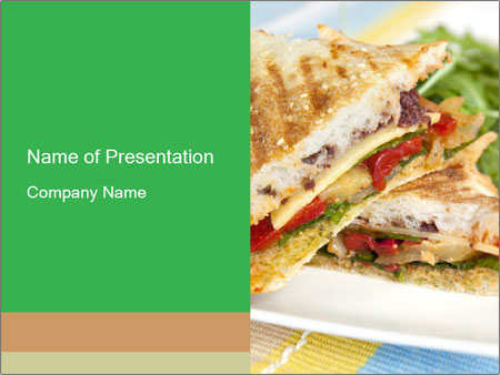Grilled Sandwich PowerPoint Templates