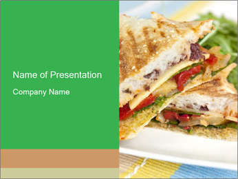 Grilled Sandwich PowerPoint Template - Slide 1