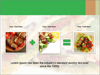 Grilled Sandwich PowerPoint Templates - Slide 22