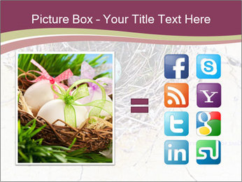 Nest With Blue Eggs PowerPoint Template - Slide 21