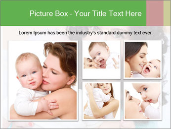 Portrait of laughing young mum together with a small son in a room PowerPoint Template - Slide 19
