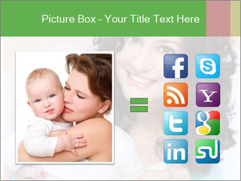 Portrait of laughing young mum together with a small son in a room PowerPoint Template - Slide 21