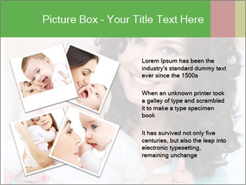 Portrait of laughing young mum together with a small son in a room PowerPoint Template - Slide 23