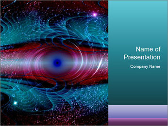 Art worm hole PowerPoint Template - Slide 1