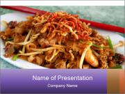 Penang Fried Noodle PowerPoint Templates