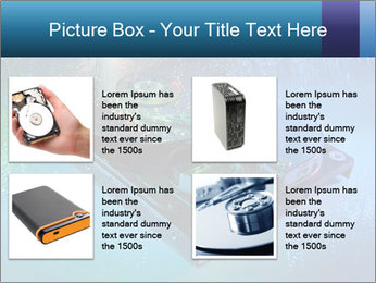 Computer hard drives with technology PowerPoint Template - Slide 14