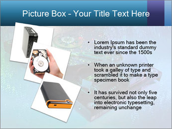 Computer hard drives with technology PowerPoint Template - Slide 17