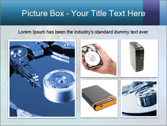 Computer hard drives with technology PowerPoint Template - Slide 19