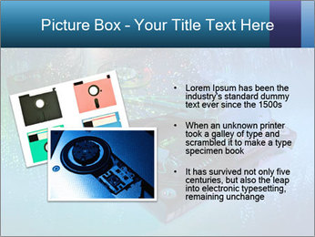 Computer hard drives with technology PowerPoint Template - Slide 20