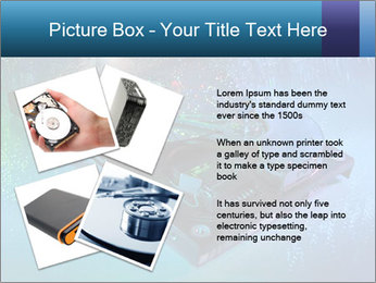 Computer hard drives with technology PowerPoint Template - Slide 23