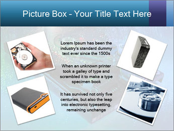 Computer hard drives with technology PowerPoint Template - Slide 24