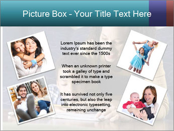 A mid adult African American woman sits on a couch homework PowerPoint Template - Slide 24