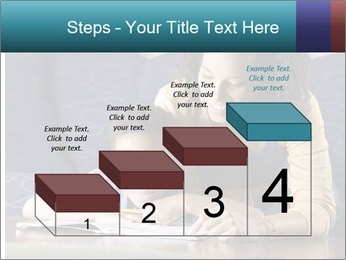 A mid adult African American woman sits on a couch homework PowerPoint Template - Slide 64