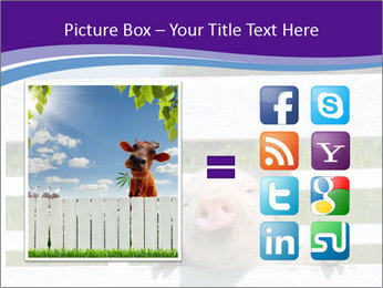 Funny Pink Piggy PowerPoint Template - Slide 21