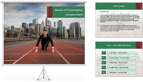 Business Race PowerPoint Template