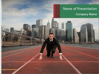Business Race PowerPoint Templates - Slide 1