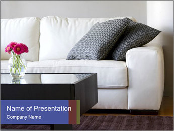 White couch PowerPoint Template - Slide 1