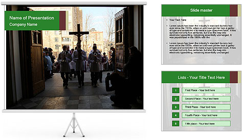 Catholic Ceremony PowerPoint Template