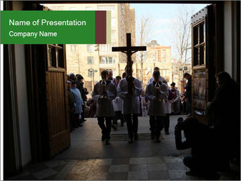 Catholic Ceremony PowerPoint Template - Slide 1