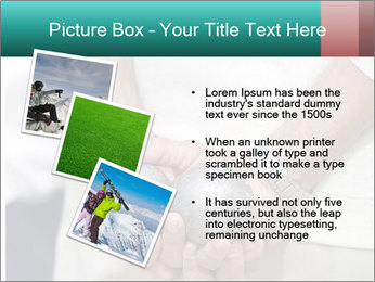 Man Holding Two Bowls PowerPoint Template - Slide 17