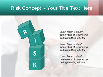 Man Holding Two Bowls PowerPoint Template - Slide 81