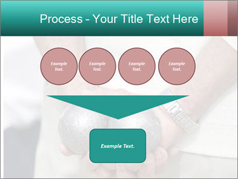 Man Holding Two Bowls PowerPoint Template - Slide 93