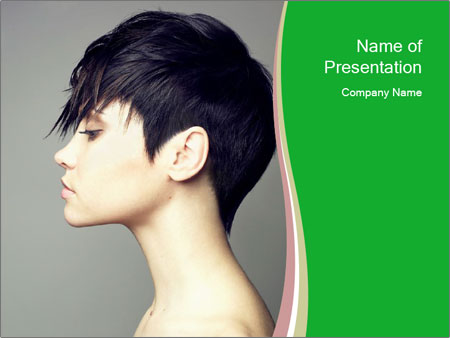Stylish Woman With Short Haircut PowerPoint Templates