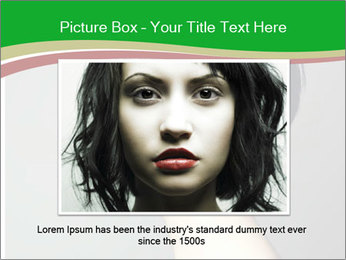 Stylish Woman With Short Haircut PowerPoint Templates - Slide 16