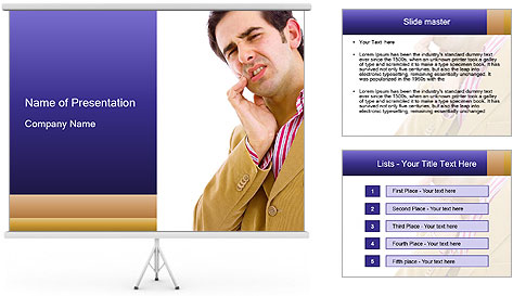 Concerned Man PowerPoint Template