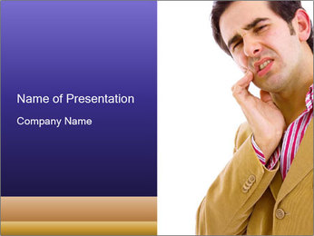 Concerned Man PowerPoint Template - Slide 1