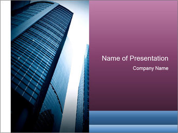 Massive Skyscraper PowerPoint Template - Slide 1