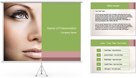 Female makeup PowerPoint Template