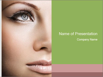 Female makeup PowerPoint Template - Slide 1