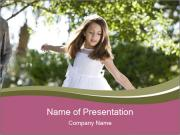 Beautiful child PowerPoint Template