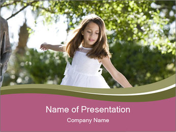 Beautiful child PowerPoint Template - Slide 1