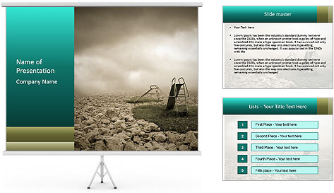 Lost childhood PowerPoint Template